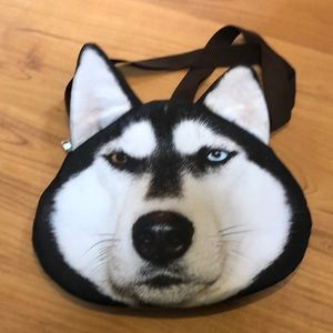 Husky wolf wolves shoulder hand bag purse dog nwot